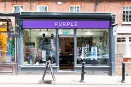 purple menswear store