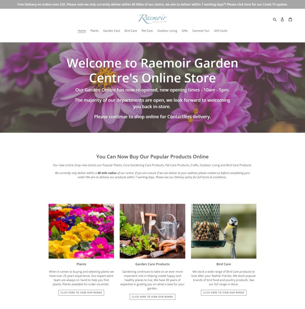 Raemoir Garden Centre Shopify